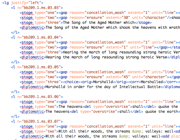 Screenshot of XML markup.